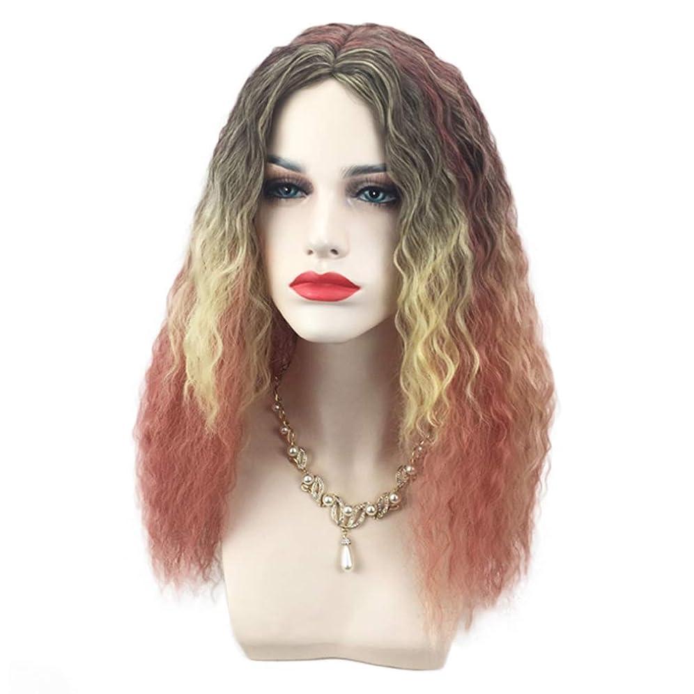 凝視年金受給者絶え間ないかつら高品質の女性の役割を演奏長い完全なスパイラルカーリー波の熱ファッショングラマー毛のかつら