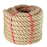 Manila Rope- (1-1/2 Inch x 50 Feet), for Landscaping, Crafts,Sporting,Marine,Projects and Tie-Downs