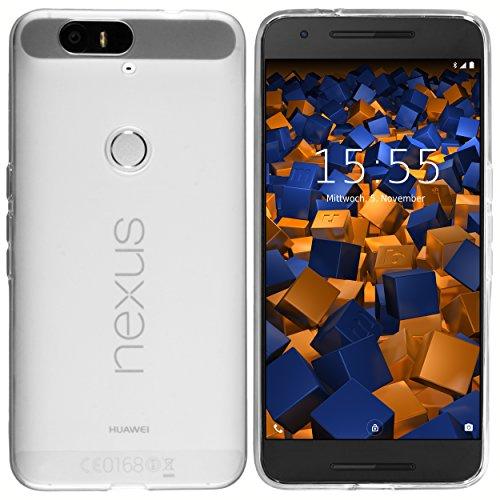 mumbi Hülle kompatibel mit Huawei Nexus 6P Handy Hülle Handyhülle, transparent weiss
