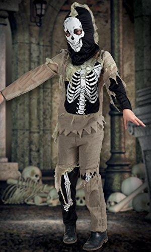 Boland- Costume Scheletro Zombie Skeleton per Bambini, Nero/Beige, 4-6 anni, 78048
