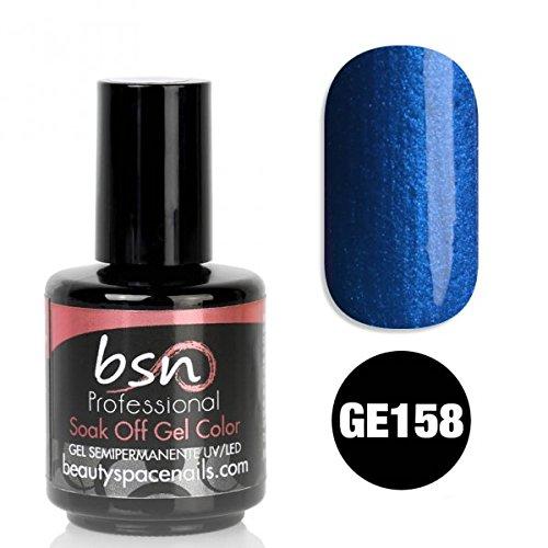 Gel Soak Off UV semi-permanent Glitter Effect Pearl Special 3in1 reconstruction faux nail art Ongle blue jeans pearl glitter