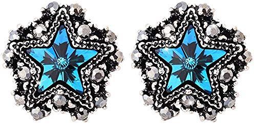 Pendientes Pendientes retro en forma de estrella de cinco puntas temperamento de moda simple pendiente en forma de estrella salvaje