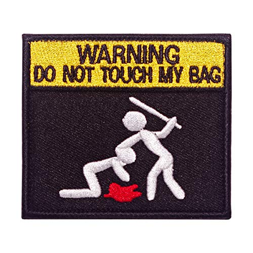 Parche bordado Cobra Tactical Solutions Warning do not touch my bag con velcro para airsoft paintball