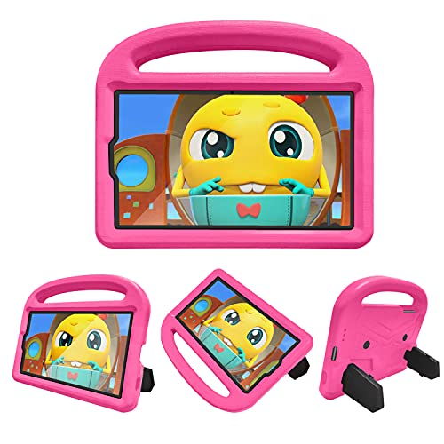 FANSONG Funda para Samsung Galaxy Tab A7 Lite Tablet 2021 (SM-T225 / SM-T220) Parachoques Ligero a Los Golpes Samsung Tab A7 Lite 8.7 Pulgadas Protectora Carcasa con Soporte Manija para Niños
