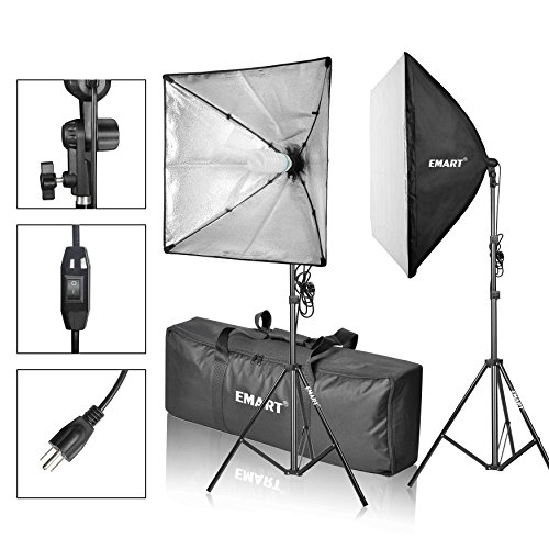 EMART Softbox Photography Video Studio Equipment Lighting Kit, 900 Watt Continuous Photo Portrait Light System, 24