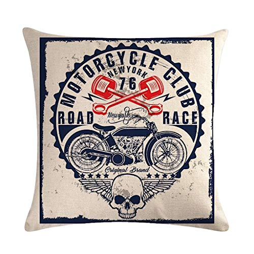 KUSTOM FACTORY Coussin Skull Moto Vintage