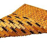 PV Bambus Duschmatte Badvorleger Badematte Holz rutschfest 50 x 80 cm -