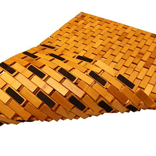 vp Bambus Duschmatte Badvorleger Badematte Holz rutschfest 50 x 80 cm