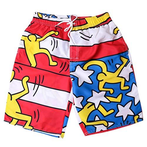 Xmiral Uomo Pantaloncini Shorts Badeshorts Bagno Costume da Bagno Beach Shorts Pantaloncini Spiaggia (L,6Arancia)