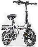 Bicicleta Eléctrica Bicicleta eléctrica plegable para adultos, viaja a Ebike con motor de 400W y carga USB eléctrica, bicicleta de la ciudad Velocidad máxima 25 km / h Lithium batería Playa Cruiser pa