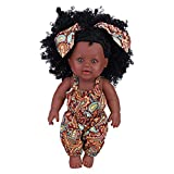 Semme Simulation Baby Mädchen Puppe, 30 cm Vinyl Wasserdichte Realistische Weiche Schwarze Haut...