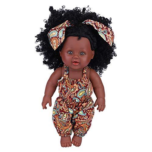 Weiche Babypuppe Künstliche Neugeborene Babypuppen Vinyl Lebensechte Ganzkörper Reborn Puppe Interaktive Spiele Spielzeug für Kleinkind Jungen Mädchen Geburtstagsgeschenk (Yellow Floral Jumpsuit)