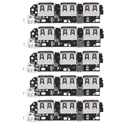 5 uds 5V 2.1A componente electrónico DIY Placa de Circuito móvil Cargador de Banco de energía USB para producción Industrial