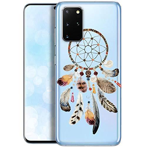 Fundas para iPhone QULT Compatible con Samsung Galaxy S20 Plus – Funda de Silicona Transparente con Lindos Motivos – Fundas iPhone Ultra Finas Atrapasueños
