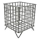 Cesta almacenamiento cápsulas café Organizador Coffee Pod Cage Holders Compatible Cesta de alambre de metal Almacenamiento de cápsulas Decoración Geométrica, Accesorios Café(Negro)