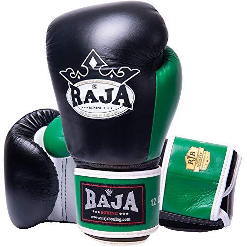 RAJA Boxhandschuhe, RBGV-1, Leder, schw-weiß-grün Größe 12 Oz