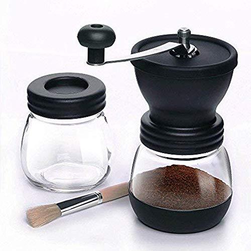 Kaffeemühle | Einstellbare Grobkeramikmühle | Kaffeemühle | Kompakte Kurbel für Zuhause, Büro & Reisen