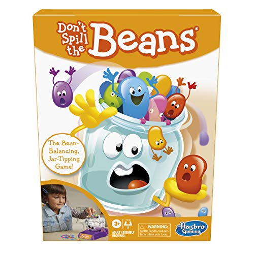 Hasbro Gaming Don't Spill The Beans, Easy and Fun Preschool Game for Kids Ages 3 and Up, for 2 Players