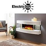 Elektrokamin ElectricSun Paula groß, weiß modern mit LED Technologie 3D Flammeneffekt, 60 inch,...