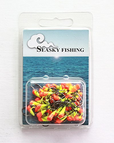 50 NEW Painted Shad Dart JigHeads 1//8 oz Fishing Hooks Lures Bait Tackles #1