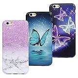 Lot de 3 coques pour iPhone 6/iPhone 6S Coque Beaulife ultra fine fine design élégant en silicone...