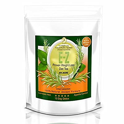15 Day E-Z Weight Loss Detox Tea – Diet Cleanse for Slimming, Appetite Control, Bloating, Body Fat Burner, Flat Belly – Natural & Strong Herbal Cleansing & Detoxing for Men & Women by Youngyou International