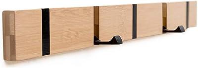 Margueras - 1 estante toallero perchero de pared (bambú con ...