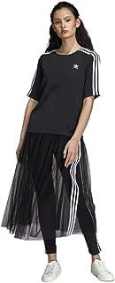 adidas Womens Originals 3-Stripes T-Shirt in Black.