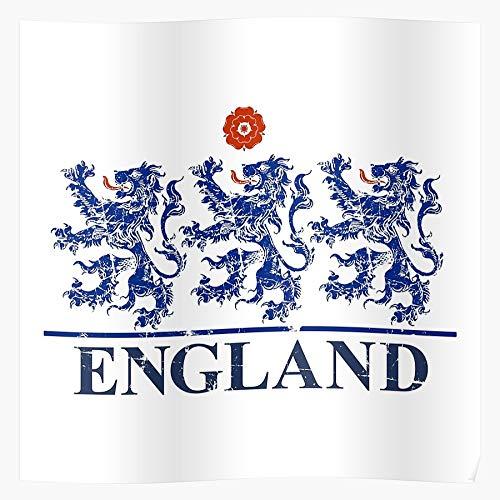 Cup Football English Sport Lion England Russia Soccer World Regalo para la decoración del hogar Wall Art Print Poster