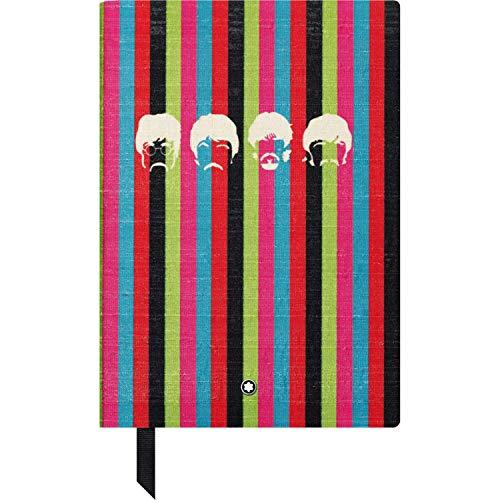Montblanc 116400 – Blocco Note #146 Cancelleria di lusso – Taccuino in seta con fogli a righe – Edizione speciale The Beatles – Quaderno appunti A5, 150 x 210 mm – Copertina multicolor