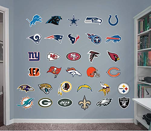 Fathead NFL League Logo NFL - Logo Collection- Officially Licensed Removable Wall Decals, Multicolor, Giant - 14-14627