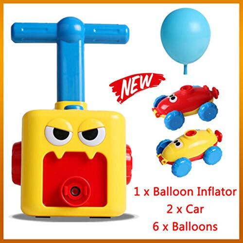 Coche de globo de energía inercial, diversión Juguetes de coche impulsados por globo de inercia Aerodinámica Energía inercial Regalos para niños