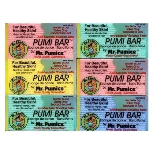 Lot of 6 Mr. Pumice Pumi Bar 4' Anti-Bacterial Wet/Dry