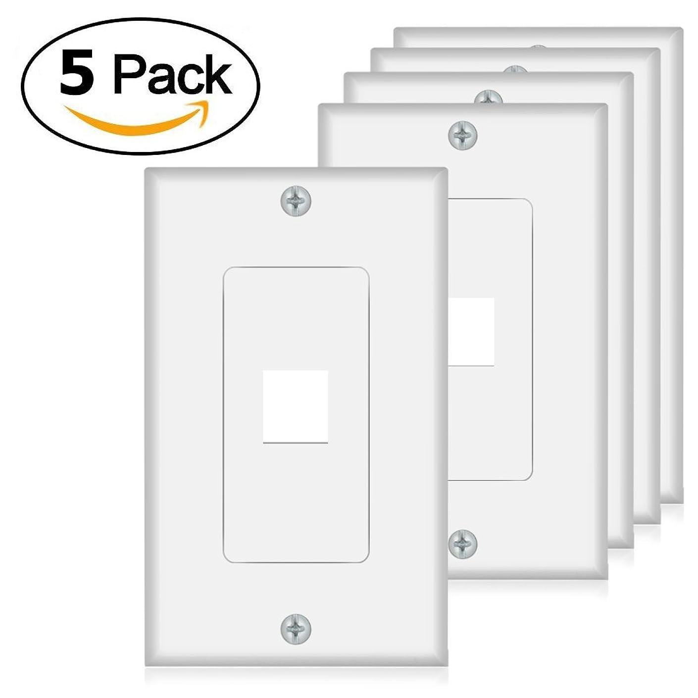 Keystone Wall Plate 1 Port (5 Pack
