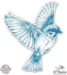 Vintage Bird Drawing Beautiful - Vinyl Sticker Waterproof Decal
