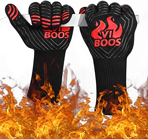 Bbq Grill Gloves 1472 Extreme Heat Resistant Grilling Gloves For Cooking Baking And For Smoker product image