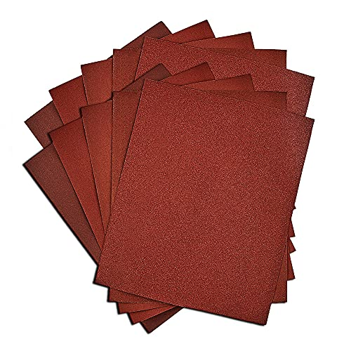 Sandpaper for Wood, 25 Pieces 9x11-Inch Sand Paper 60 100 120 150 220 Grits Sanding Sheets Sandpaper Assortment For Sanding Block and Sheet Sanders-Acroma