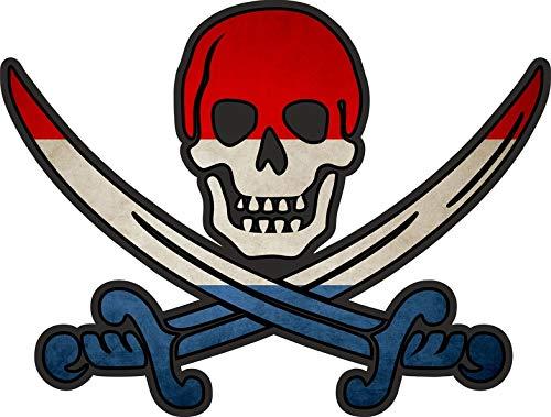 Akachafactory sticker piraat piraten Jack Rackham Calico vlag vlag NL Nederland