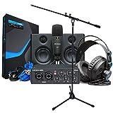 Presonus Audiobox USB 96 Ultimate Bundle - Kit de grabación para cantar (incluye soporte para micrófono keepdrum)