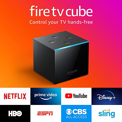 Fire TV Cube, hands-free with Alexa built in, 4   K Ultra HD, streaming media player, released 2019