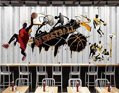 Behang Mural Persoonlijkheid Trend Basketbal Gym Poster Achtergrond Muurdecoratie Schilderen 250Cm × 175Cm