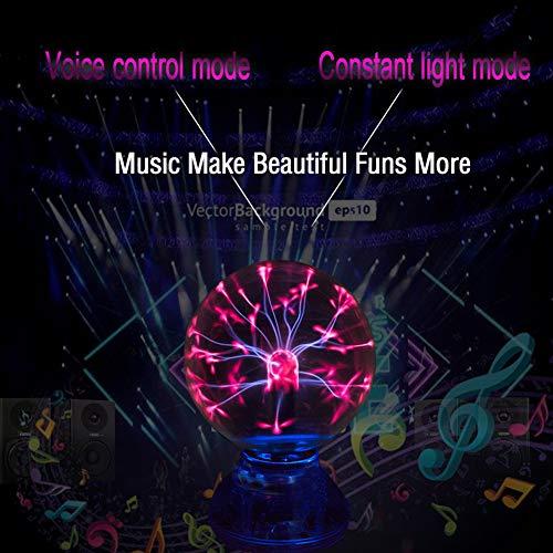 Hihey Led-interieurverlichting, auto-muziekbesturing, led, USB, plasma bal, elektrostatische lamp, sfeer, DJ-verlichting, feestverlichting, decoratie