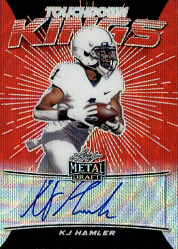 2020 Leaf Metal Draft Touchdown Kings Autograph Wave Red Football S3#TK-KH2 KJ Hamler Auto Penn State Nittany Lions Official Player Licensed Rookie Card