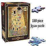 パズルジグソー大人と子供 グスタフ・クリムト大人ペーパーアートパズルゲーム玩具の壁の家の装飾のためのキス1000ピースジグソーパズル 家庭用ゲーム