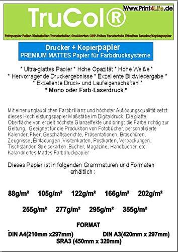 250x 105g / m² SRA3 Matt Papel de Copia Blanco sin Madera para Sistemas de impresión en Color Copiadora Copia láser Inyección de Tinta Impresora de inyección de Tinta Impresora láser a Color