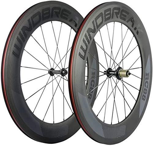 Bike 88mm Carbon Drahtreifen Radsatz 700c Rennrad Rad 23mm Breite