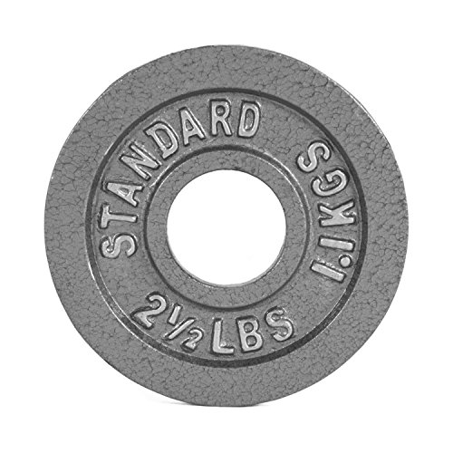 CAP Barbell Olympic 2-Inch Weight Plate, Gray 2.5 LBS (1.1 KGS), Single