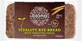 Biona Organic Rye Vitality Bread with Sprouted Seeds, 500 g