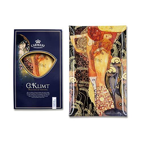 Carmani - Piastra Rettangolare in Vetro Stampato con Klimt Acqua Snake