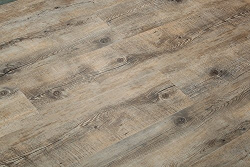 8.7mm Extra Thick Click Lock Luxury Vinyl Flooring Plank 100% Waterproof w/EVA underpad: 47.28sqft($4.21/sqft): Superior wear Protection - 28 mil wear Layer and UV Coating - Scratch Resistance